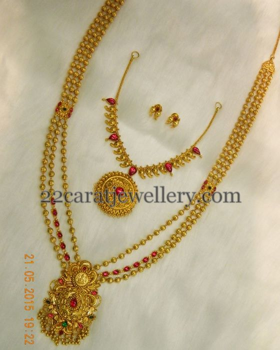 Light Weight Gold Balls Chains Jewellery Designs