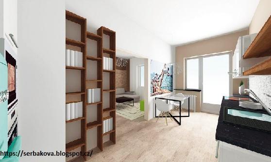 После перепланировки однокомнатной квартиры вошла и гардеробная с кроватью наверху
