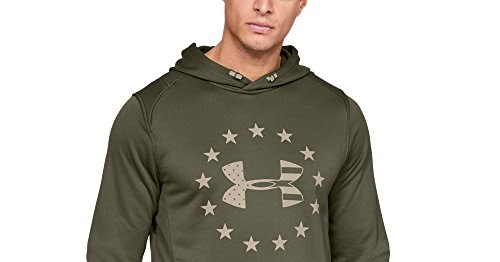 91e2f0d5 Under Armour Men's Freedom Tech Terry Hoodie, Marine Od Green (390 ...
