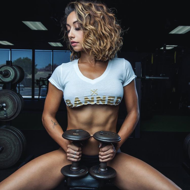 fitness model, sponsored athlete, and trainer Michelle Janine