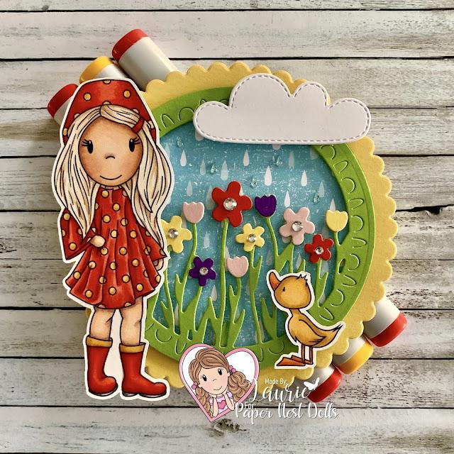 Avery in Rain Poncho