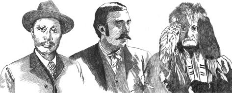 Sketch of Skookum Jim, Ben Moore, William Moore