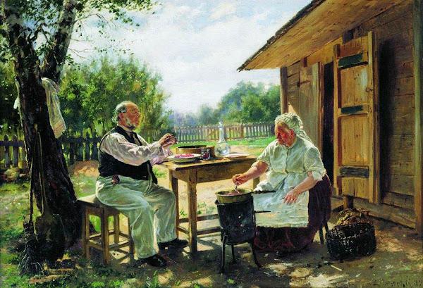 Маковский Владимир Егорович - Варят варенье. 1876
