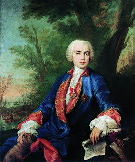 The castrato Carlo Broschi, known as Farinelli, in a 1752 painting by Jacopo Amigoni