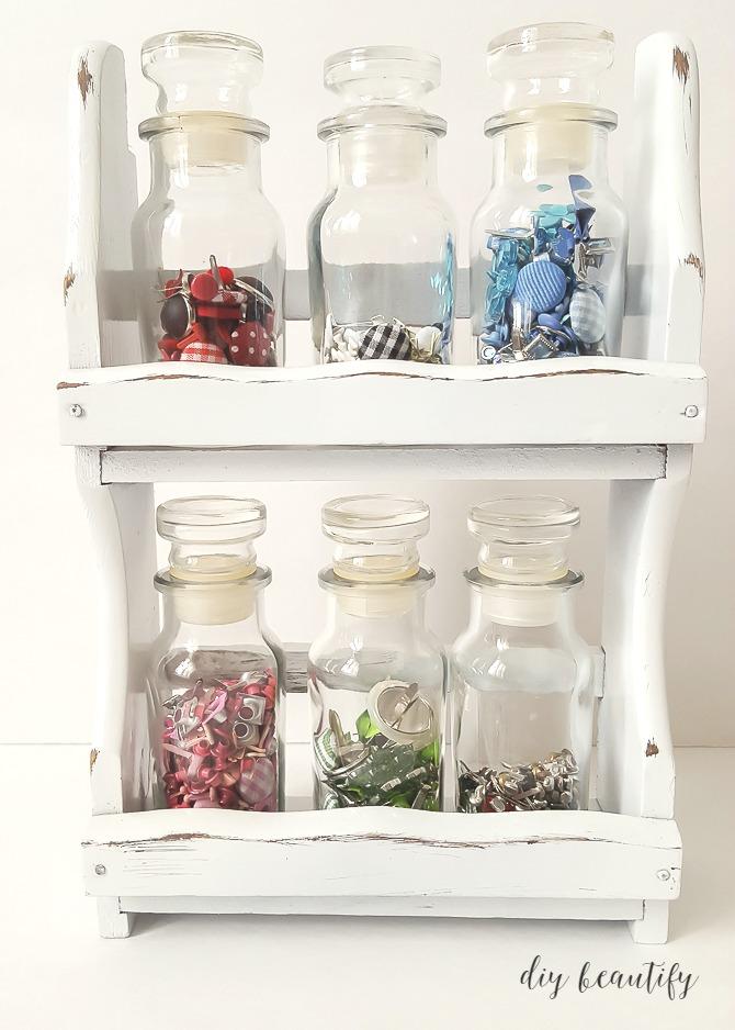 store smalls in spice jars