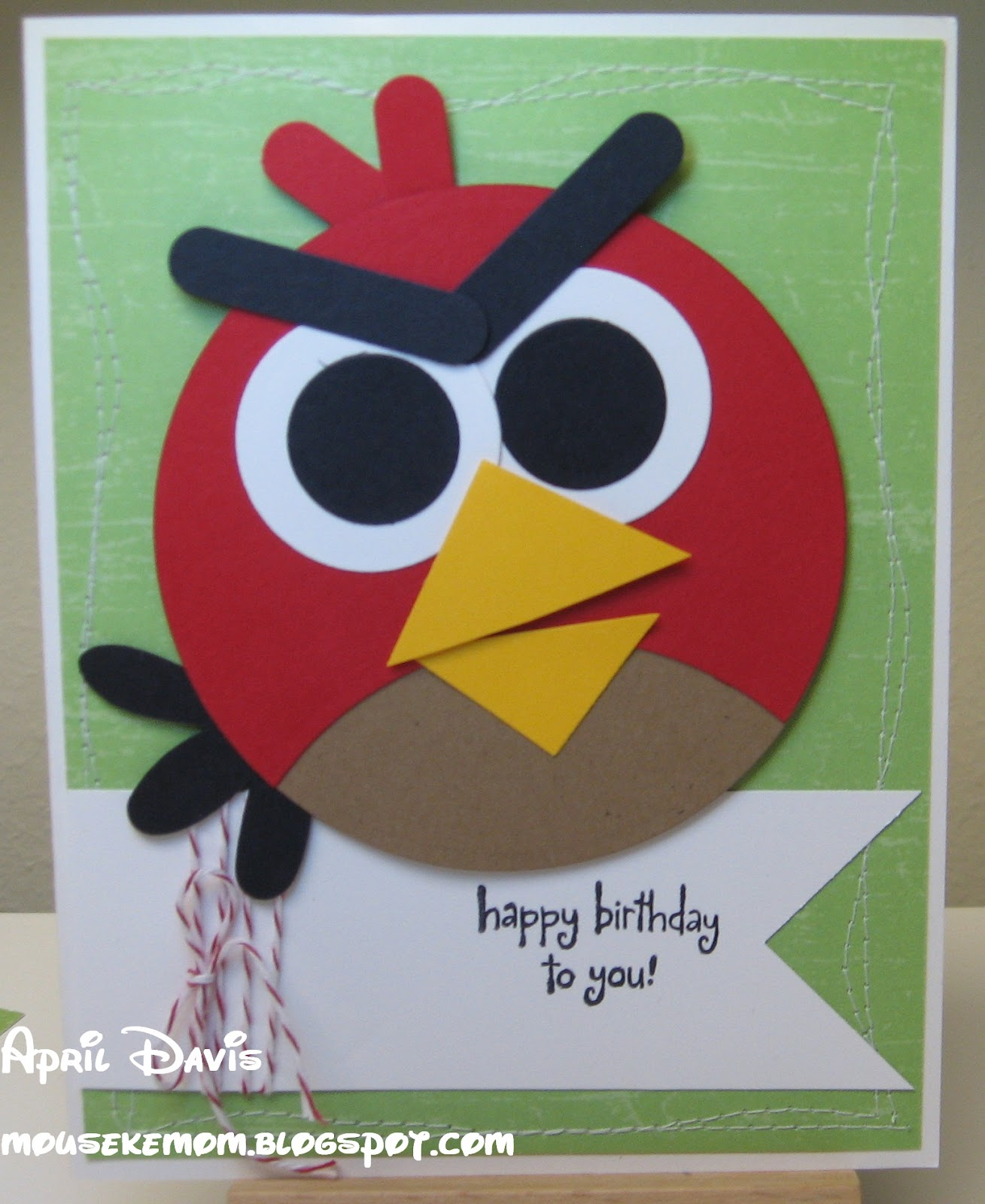 Mousekemom's Mouseworks: Angry Birds Birthday Card