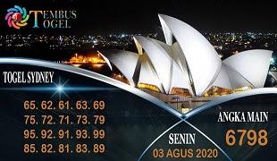 Prediksi Angka Sidney Senin 03 Agustus 2020