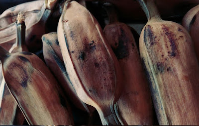 pisang rebus boiled banana