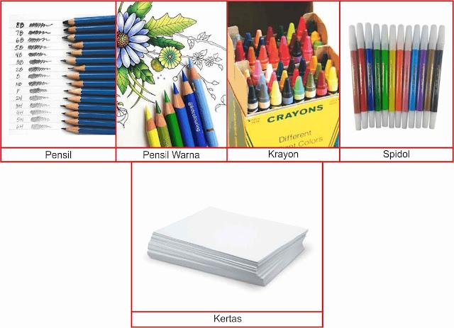 macam-macam-alat-dan-media-menggambar
