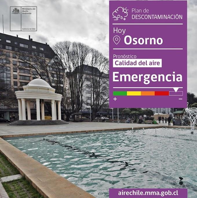 Bajas temperaturas para este sábado llevan a decretar Emergencia Ambiental en Osorno