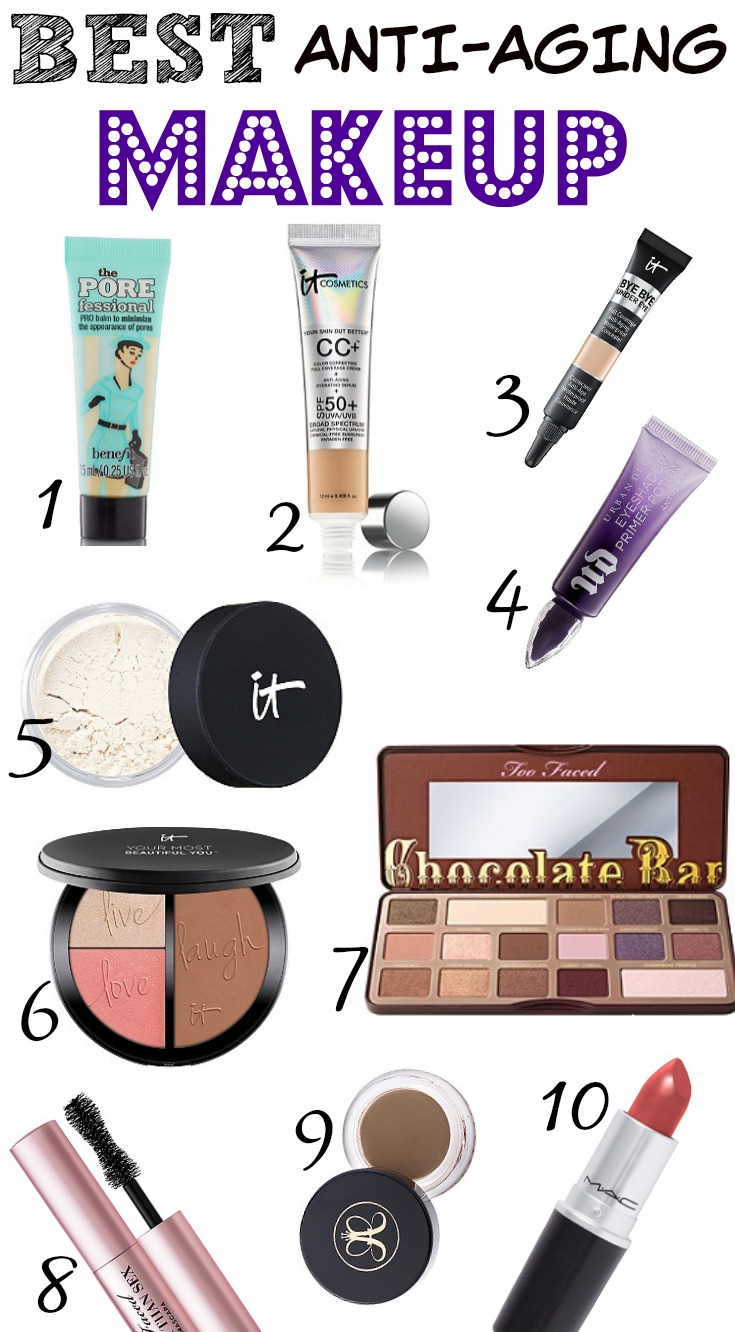 BEST ANTI-AGING MAKEUP! #over10 #beautyover10