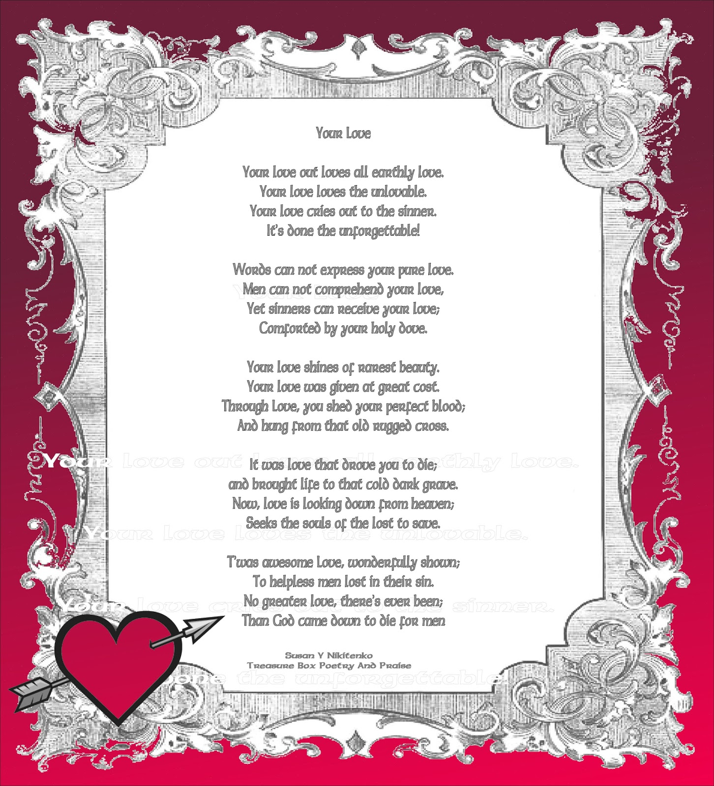 Treasure Box Poetry And Praise. 1452 x 1600.First Valentine's Day Poems