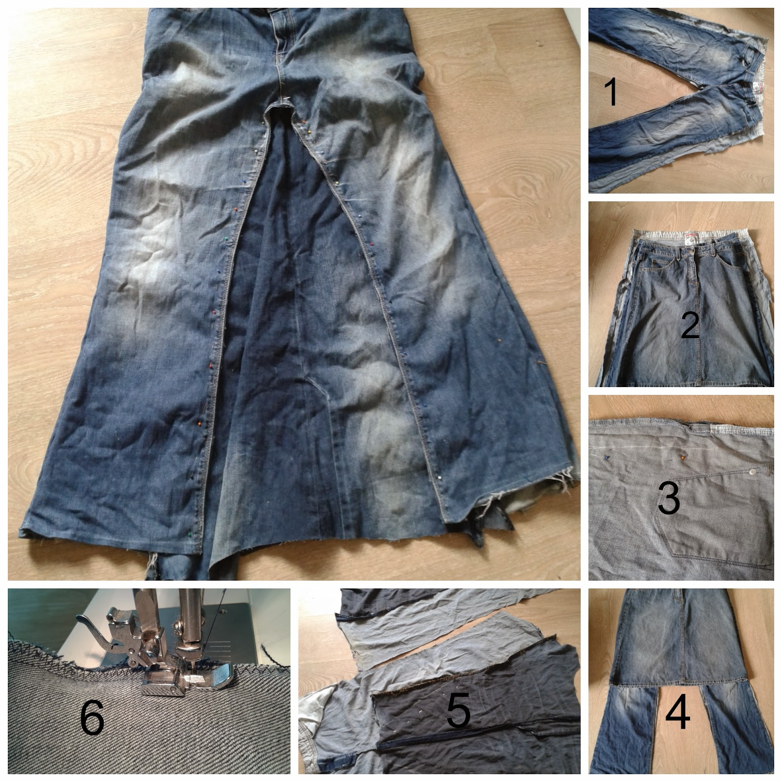 95d70b755e Making A Denim Skirt Out Of Old Jeans
