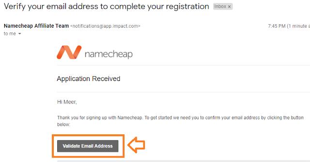 Namecheap Signup with Impact Radius