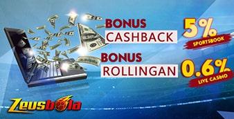 Bonus Rolingan Cashback Bonus Rolingan