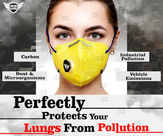 India's No.1 Urbangabru N99 Anti-Pollution Mask with 4 Layer Protective Filters