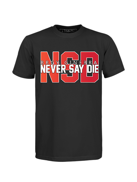 Brgy Ginebra Never Say Die Black T-Shirt