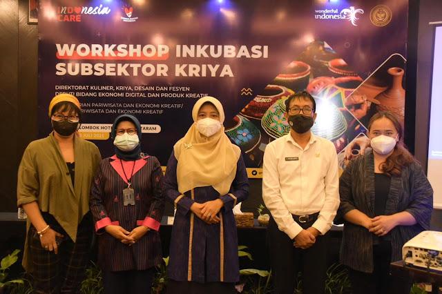 Puluhan pengerajin NTB ikuti workshop inkubasi subsektor kriya
