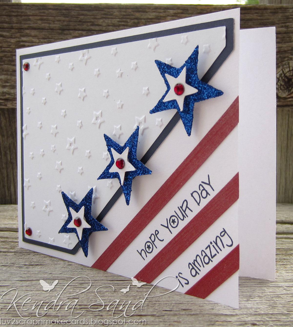 Luv 2 Scrap N' Make Cards: Red, White & Blue Blog Hop