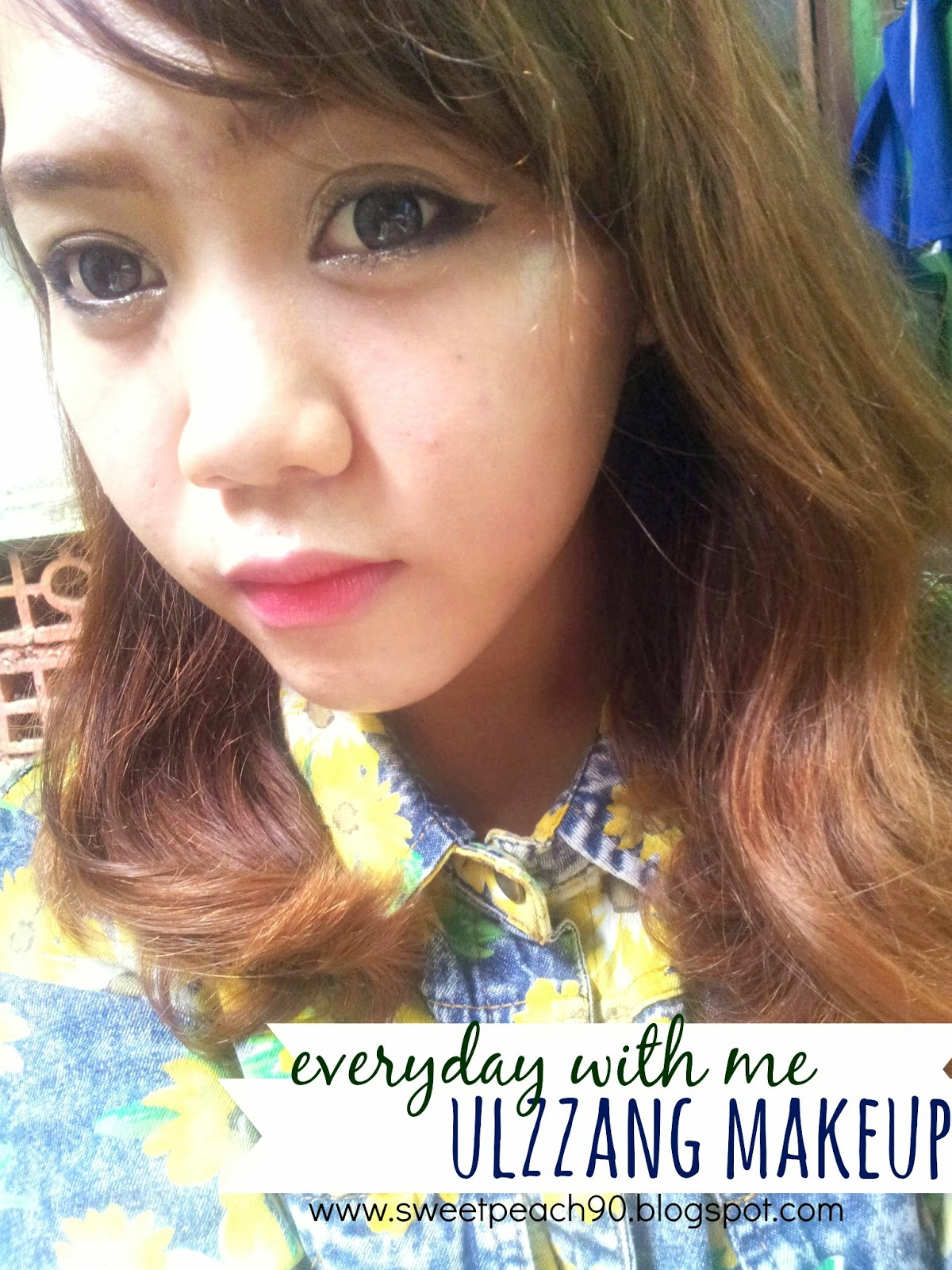 Ulzzang Makeup Tips: Sweet Peach: [Everyday With Me] Ulzzang Makeup