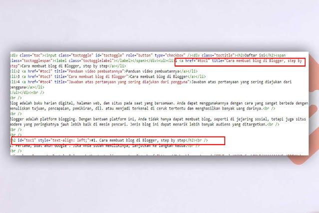 Membuat daftar isi di postingan blogger