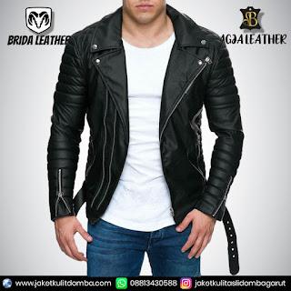 jaket kulit pria