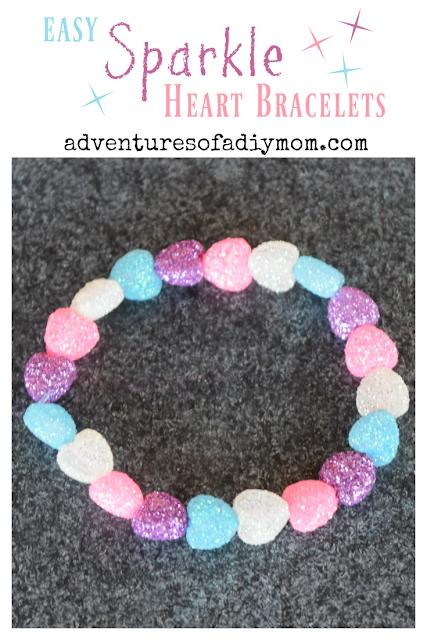Sparkle Heart Valentines Bracelet