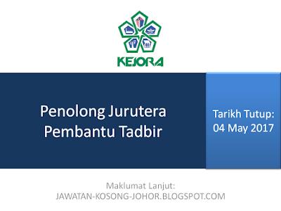Jawatan Kosong Di Lembaga Kemajuan Johor Tenggara - KEJORA