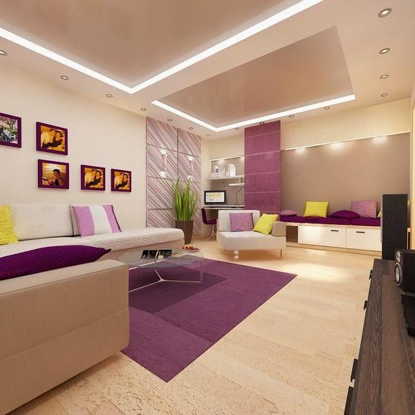 Amenajari interioare pereti rigips montaj tavane gips carton zugraveli interioare camera de zi - Bedroom style for small space model ...