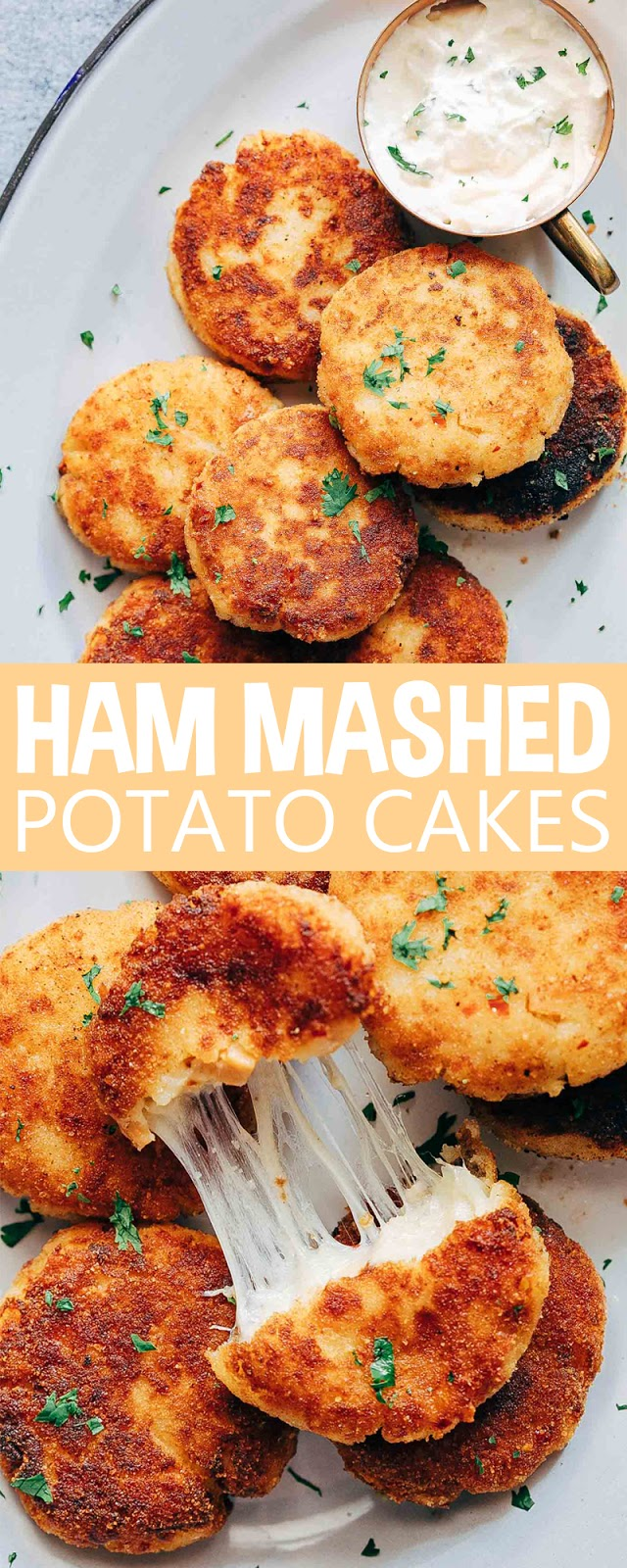 HAM MASHED POTATO CAKES