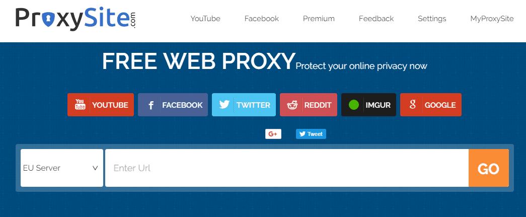 situs web proxy gratis terbaik Proxysite