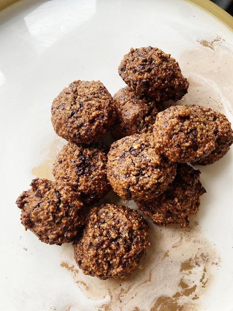 Ciasteczka migdałowo- orzechowe bez cukru