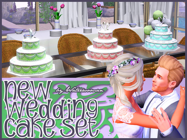 how to cook wedding cake sims 4 my sims 3 new wedding cakes by water 15608