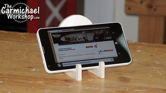The Carmichael Workshop Phone Stand