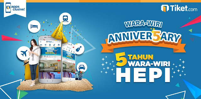 WARA-WIRI ANNIVER5ARY - 5 TAHUN WARA-WIRI HEPI TIKET.COM