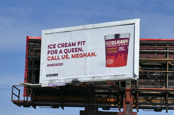 Coolhaus Icecream queen Meghan billboard