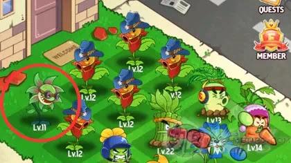 Merge Flowers vs. Zombies: Buy Low Lvl Flower