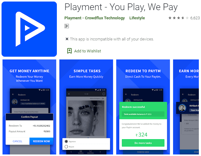 Playment Android Earning Apps