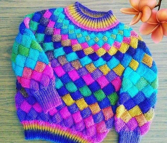 Cómo Tejer Gorros con Agujas en Punto Entrelac / Tutorial | Crochet ...