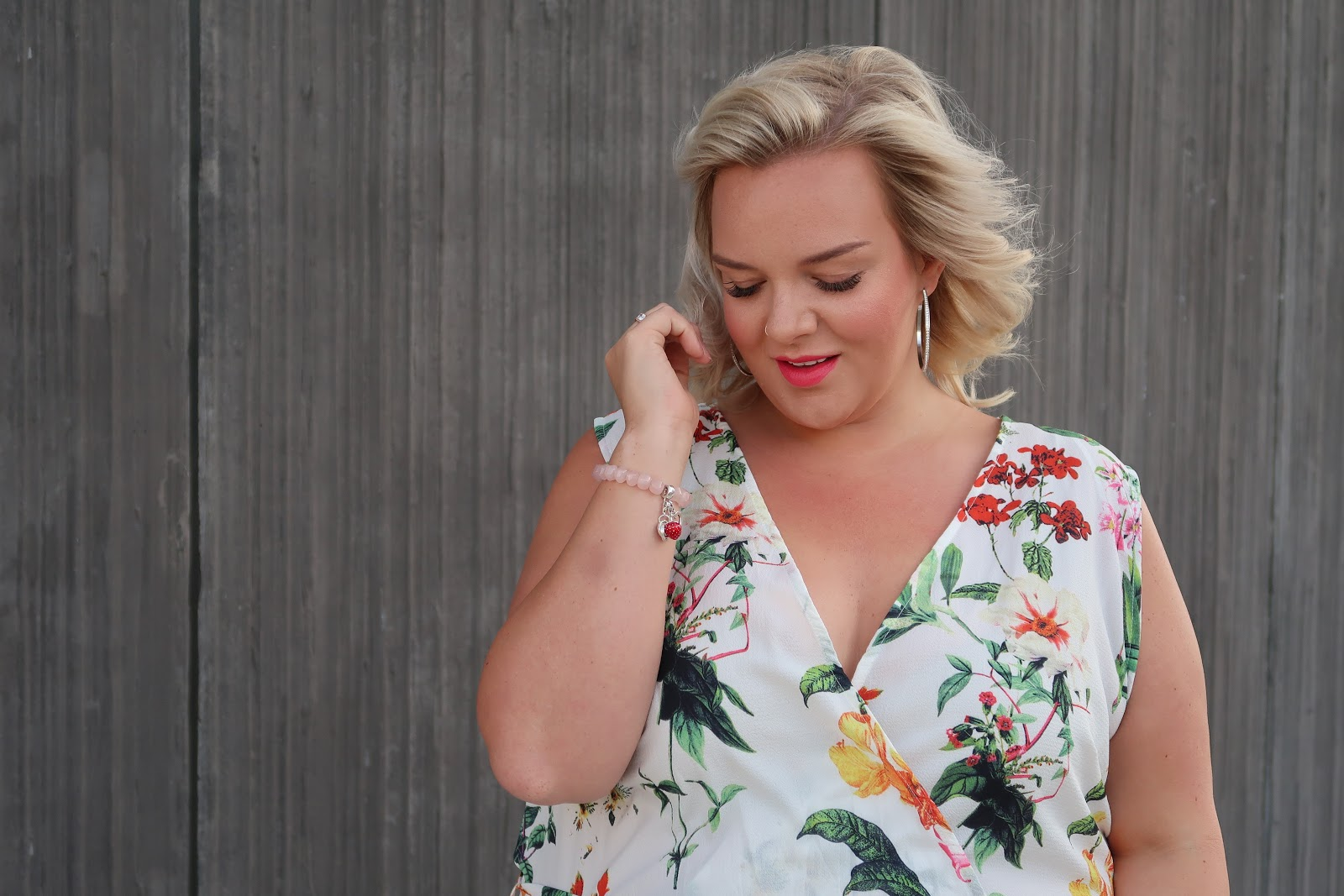 The Quiz Curve Oriental Floral Print Jumpsuit Review by UK Plus Size Fashion Blogger WhatLauraLoves