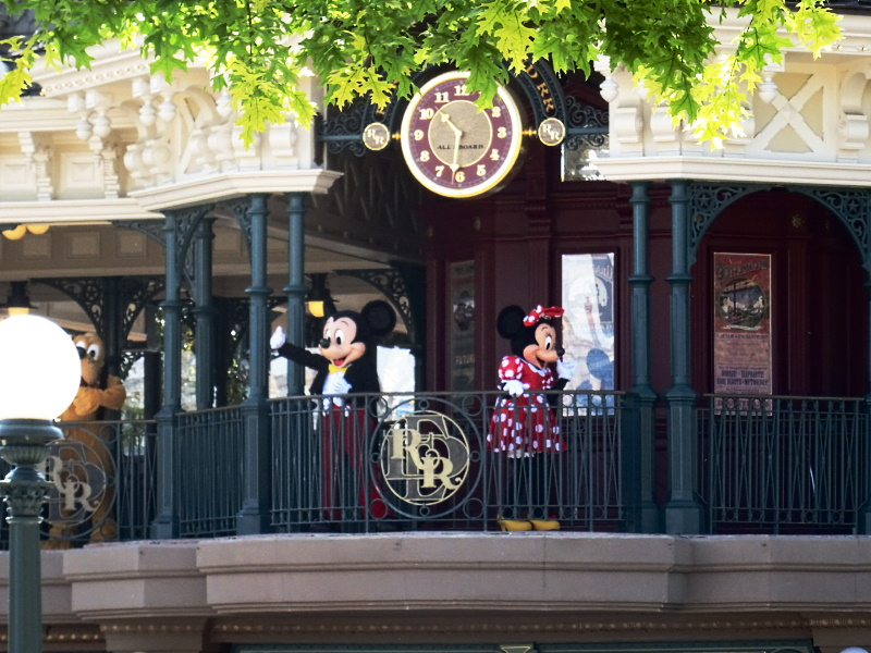 Ouverture de Disneyland Paris, photo de Mickey et Minnie Railroad