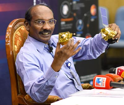 The Chairman (ISRO), Dr. K. Sivan addressing a press conference in Bengaluru.