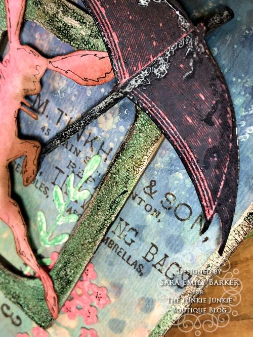 Sara Emily Barker https://sarascloset1.blogspot.com/2020/04/finding-joy-with-tim-holtz-distress.html Mixed Media Card #TimHoltz #StampersAnonymous #Ranger 4
