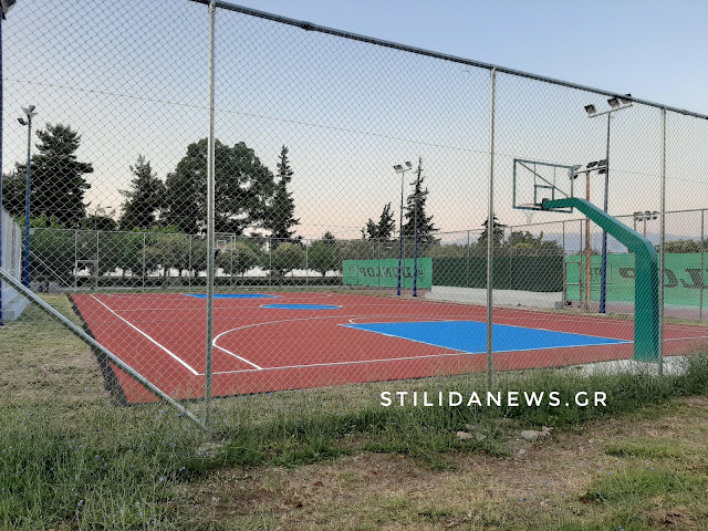 Στυλίδα: Γήπεδο μπάσκετ, ολοκληρώθηκε η ανακατασκευή