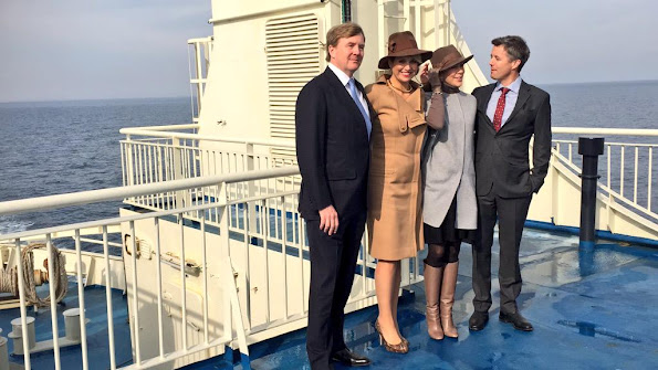 King Willem-Alexander of The Netherlands and Queen Maxima of The Netherlands and Crown Prince Frederik of Denmark and Crown Princess Mary of Denmark visits Samso Island