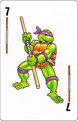 Baraja infantil Las Tortugas Ninja Fournier Carta Donatello 7