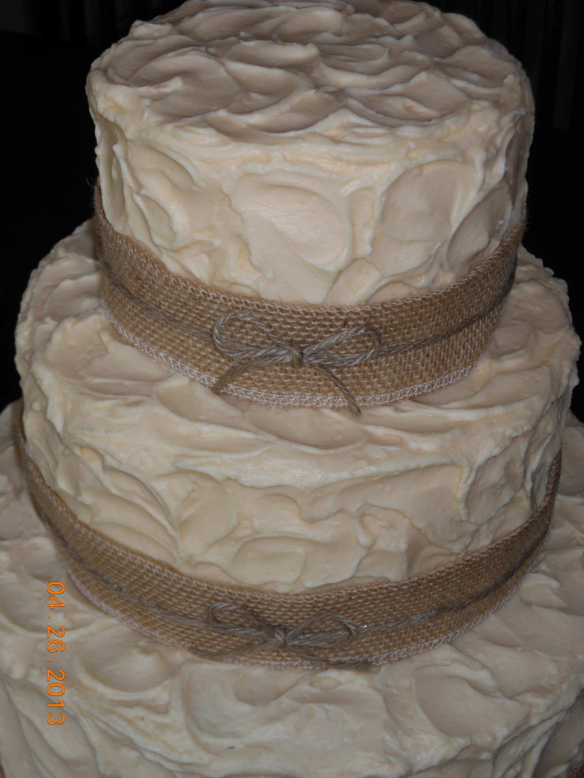 burlap wedding cake decorations it s a of cake rustic burlap wedding cake 12256