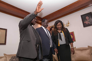 Raila Odinga heading to Nyeri for a Mega rally and Madaraka day celebrations. PHOTO | Courtesy