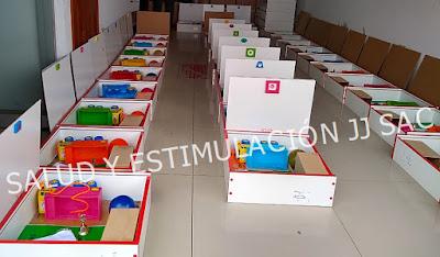 kits juguetes escala tepsi cajas melamina cadena produccion