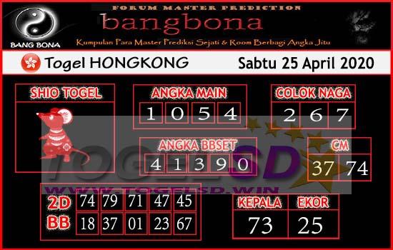 Prediksi HK 25 April 2020 - Bang Bona HK
